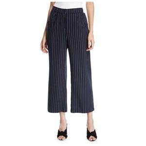 NWT Eileen Fisher Navy Pin Striped Pants L